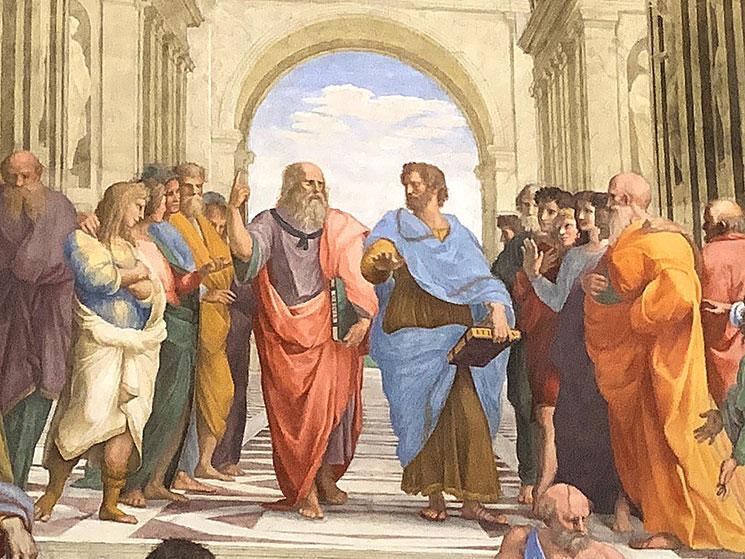 アテナの学堂 「プラトン」と「アリストテレス」