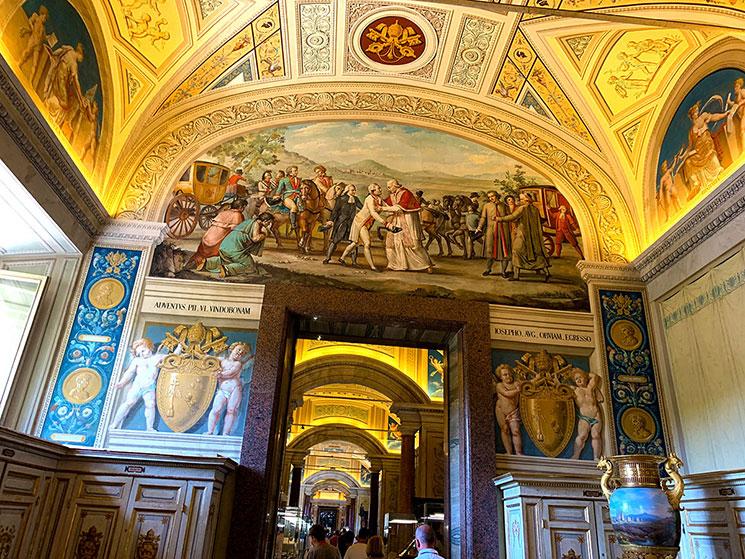 バチカン図書館の回廊