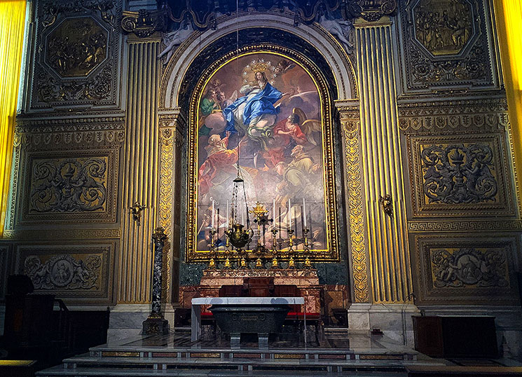 聖歌隊の礼拝堂祭壇画『無原罪のお宿り』– ピエトロ・ビアンキ