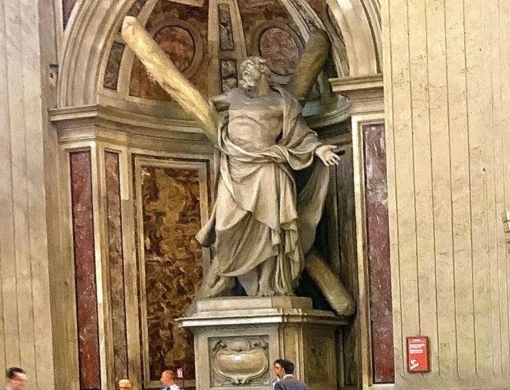 聖アンデレ像