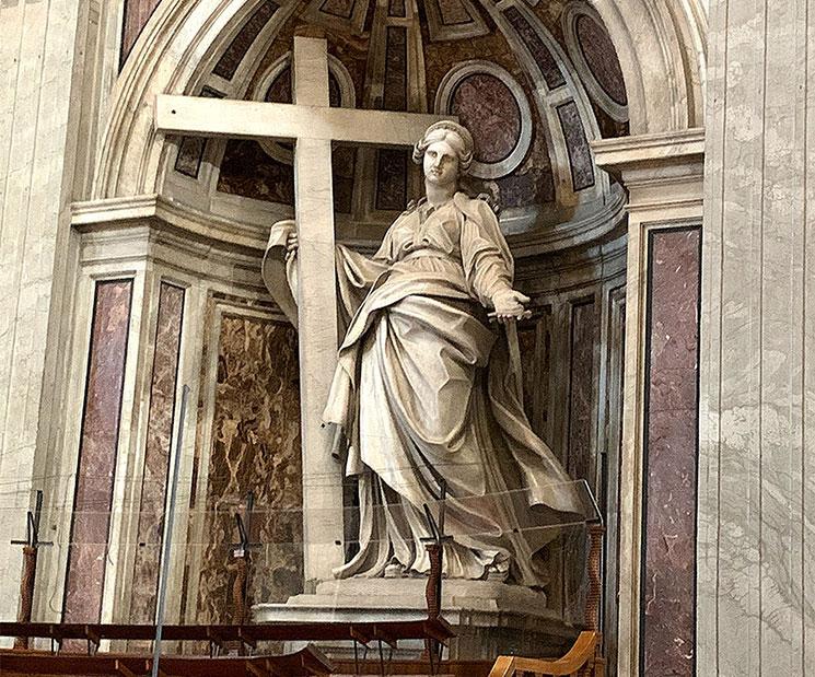聖女ヘレナの像(アンドレア・ボルジ作)