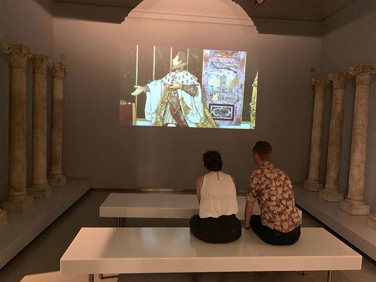 ドゥオーモ付属美術館の映像室