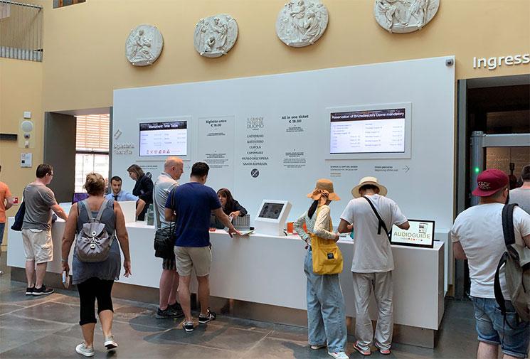ドゥオーモ付属美術館のチケット販売窓口