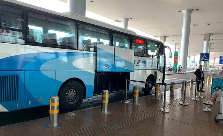 北京空港のシャトルバス
