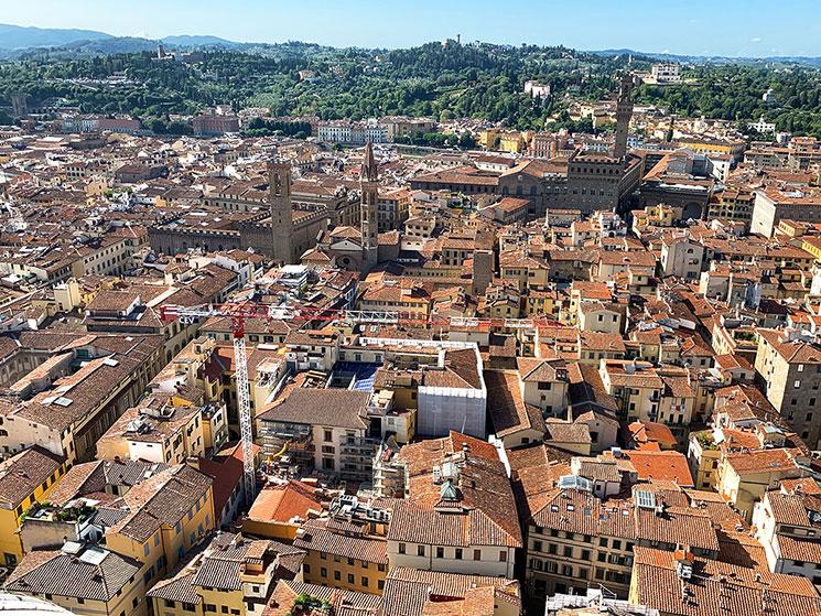 クーポラから見るフィレンツェの街並み