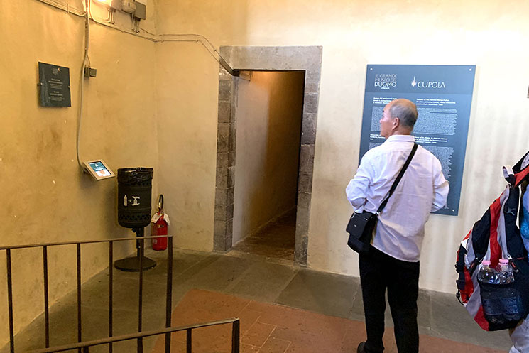 クーポラ 展望フロア途中にある小部屋