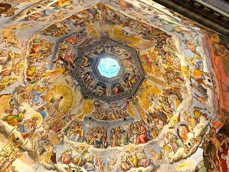 クーポラの天井画「最後の審判」