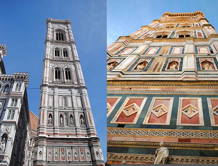 ジョットの鐘楼の外観と装飾