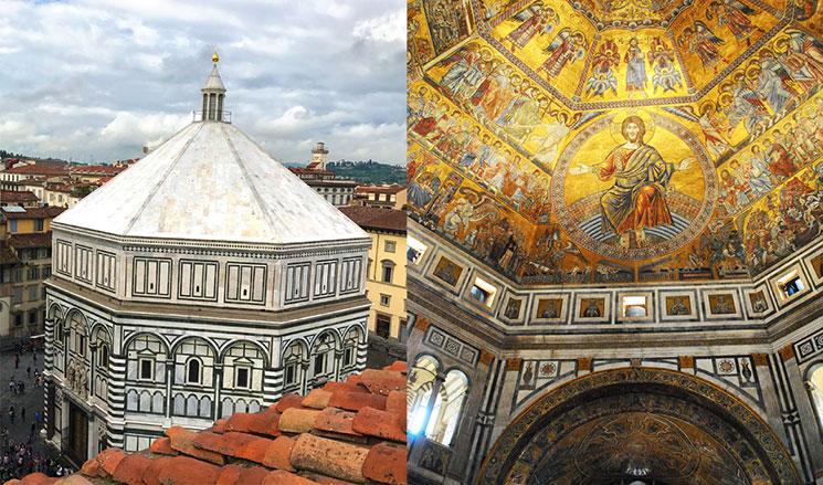 サン・ジョヴァンニ洗礼堂 外観と天井画「最後の審判」