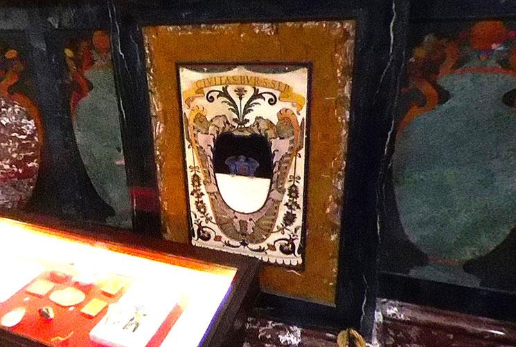 君主の礼拝堂 壁面の装飾 トスカーナ大公国の16の紋章