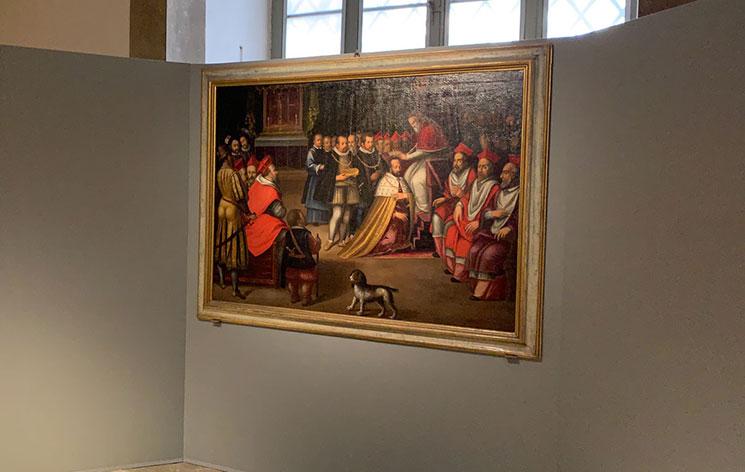 メディチ家礼拝堂 展示品の絵画