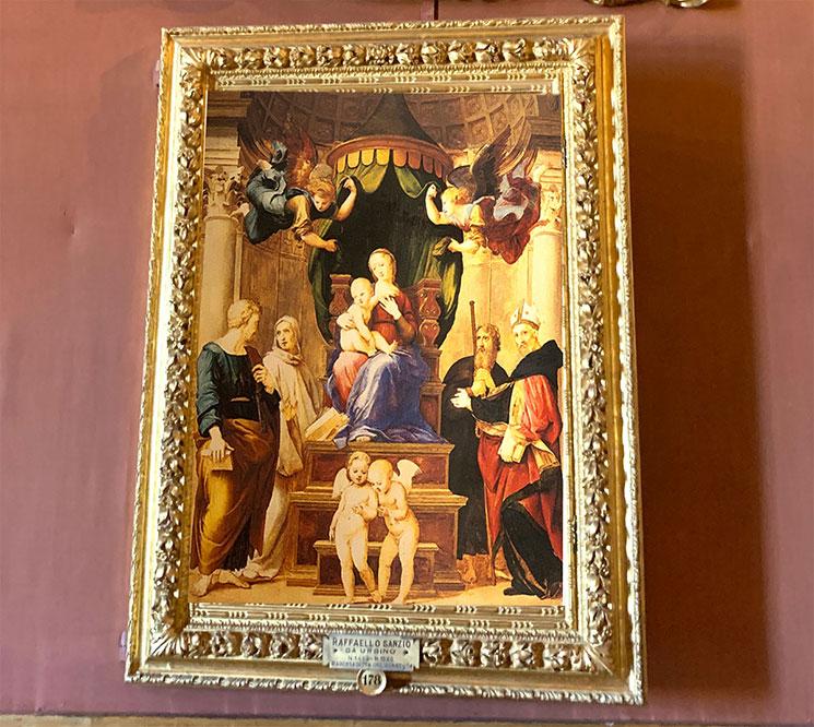 ラファエロ・サンティ作 天蓋の聖母