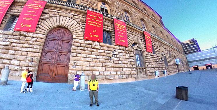 ピッティ宮殿の入口