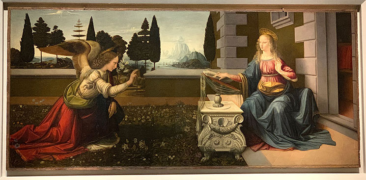 受胎告知 / レオナルド・ダヴィンチ作(1475~80年頃)