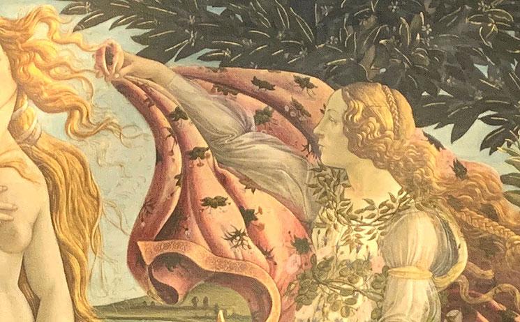 「ヴィーナスの誕生」ヴィーナスを迎えいれる女神ホーラ