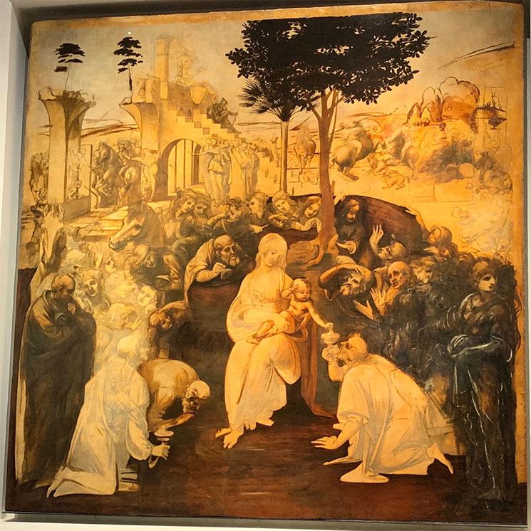 東方三博士の礼拝 / レオナルド・ダヴィンチ作(1481年)