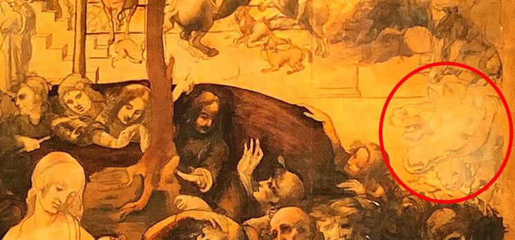 「東方三博士の礼拝」レオナルド・ダヴィンチ作(1481年)