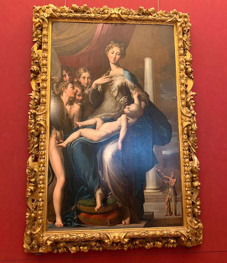 長い首の聖母 / パルミジャニーノ作(1534~39年頃)