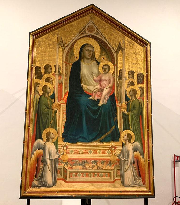 玉座の聖母子 / ジョット作(1310年頃)
