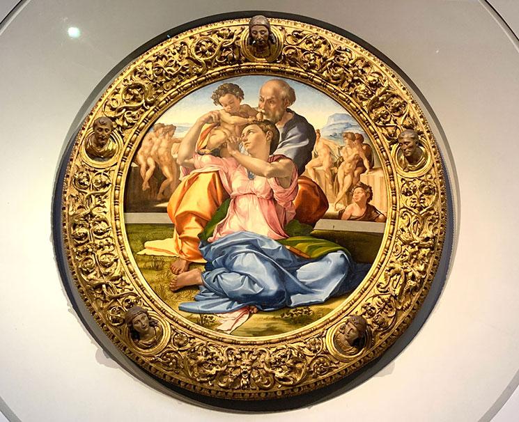 聖家族 ミケランジェロ・ブオナローティ作(1506年~08年頃)