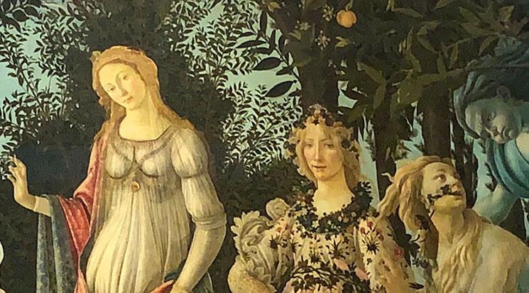 春 女神ヴィーナスとフローラ