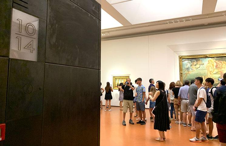 ウフィツィ美術館 第10-14室 ポッティチェリの展示コーナー