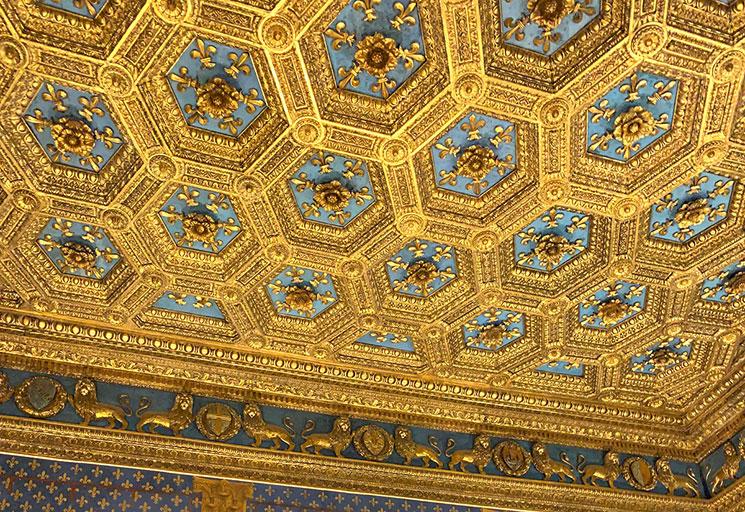 ヴェッキオ宮殿 百合の間の天井装飾