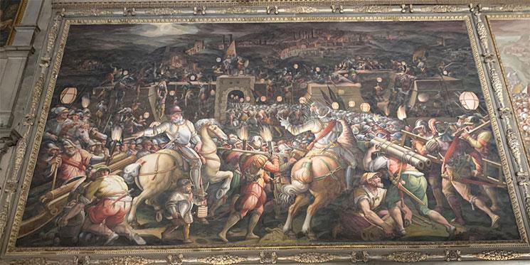 ヴァザーリ作の絵画 シエナの攻略