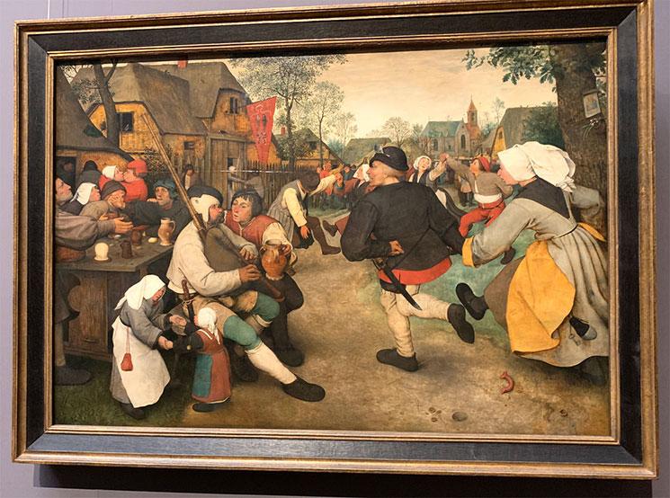 農民の踊り ビーテル・ブリューゲル作