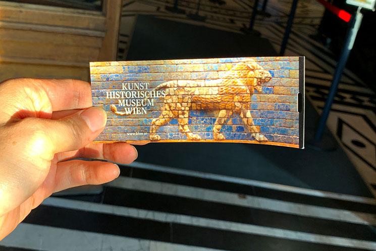 美術史美術館のチケット