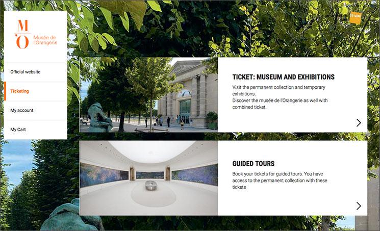 オランジュリー美術館のチケット予約ページ「M'O」