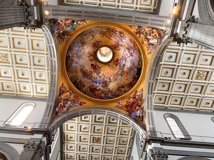 サン・ロレンツォ教会 天井のフレスコ画