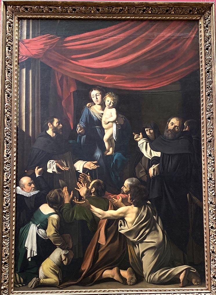 ロザリオの聖母 カラヴァッジオ作
