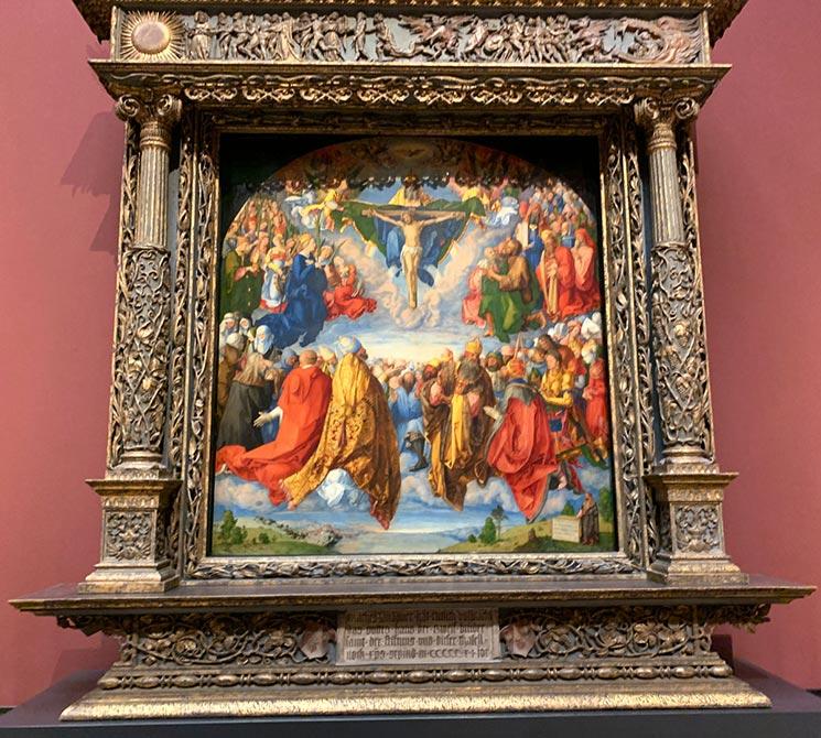 諸聖人の祭壇画(聖三位一体の礼拝) アルブレヒト・デューラー作