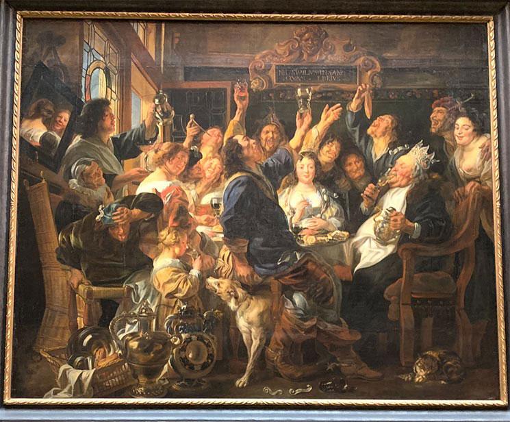 豆の王様の祝宴 / ヤーコブ・ヨルダーンス作