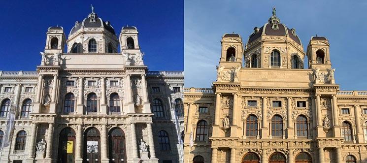 ウィーン美術史美術館と自然史博物館