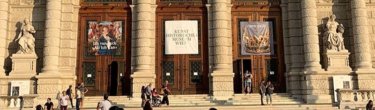 ウィーン美術史美術館の入口
