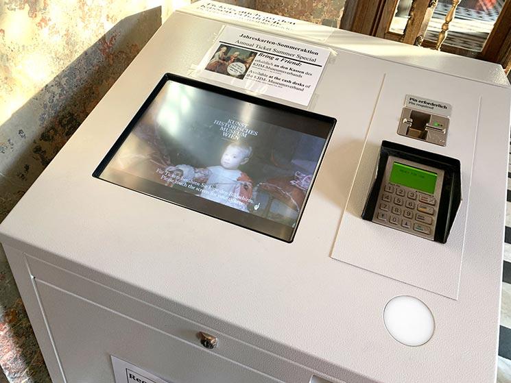 美術史美術館の自動券売機