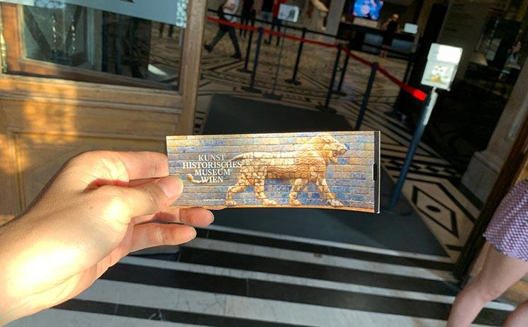 美術史美術館の入場チケット
