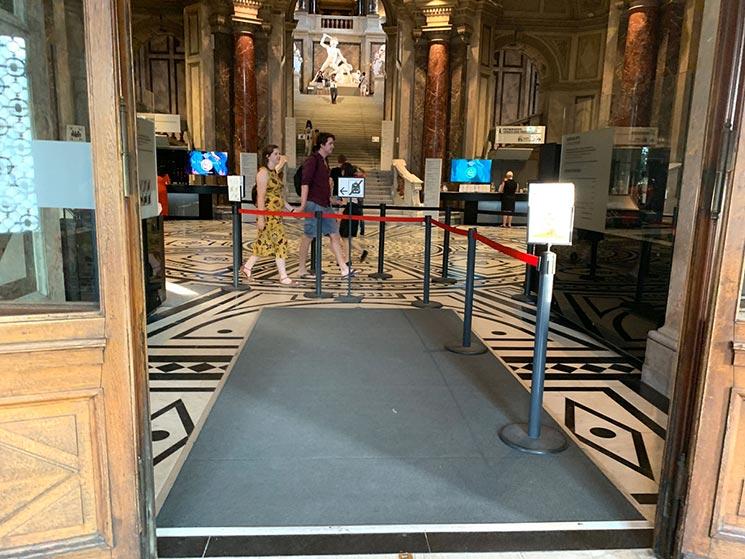 美術史美術館 見学ゾーンへの入口