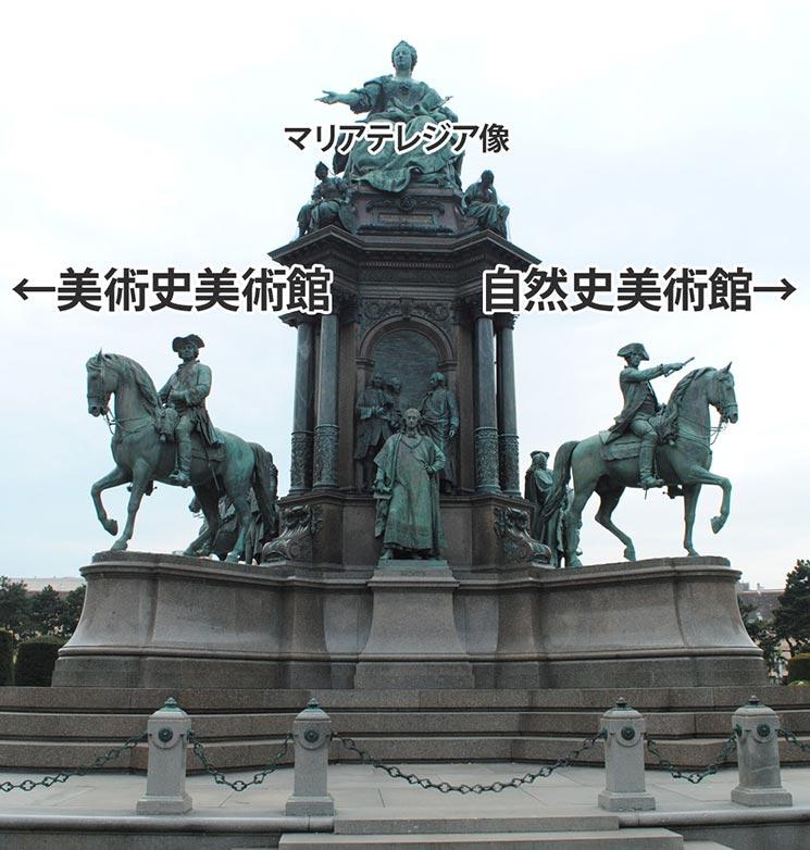 マリアテレジア広場のマリアテレジア像