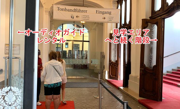 シェーンブルン宮殿の見学開始口