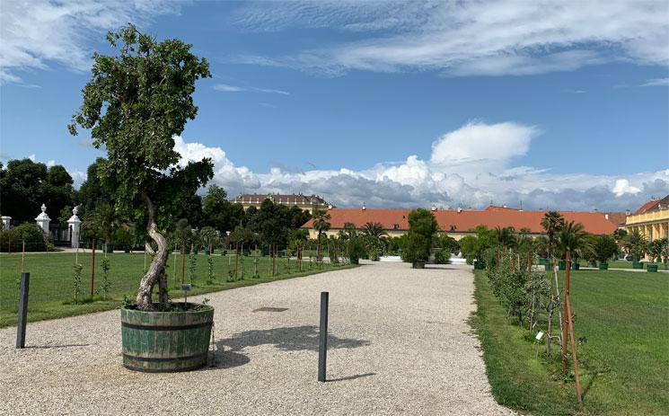 オランジュリー庭園の景観