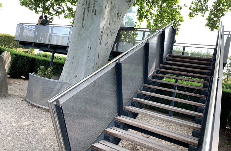 迷路庭園 見晴台の階段