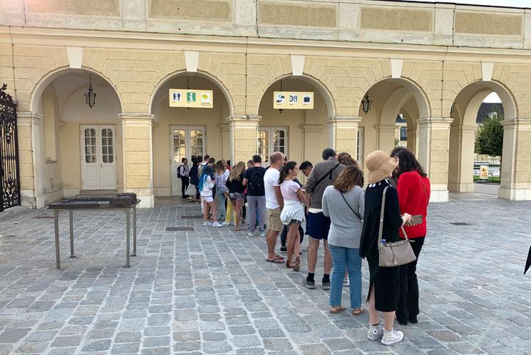 シェーンブルン宮殿のチケット売り場