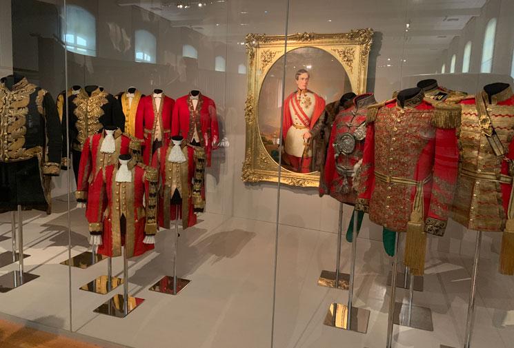 馬車博物館 フランツ・ヨーゼフの衣装コーナー