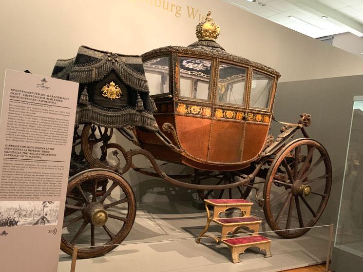 馬車博物館 シシィがオーストリア入国時に使用した馬車
