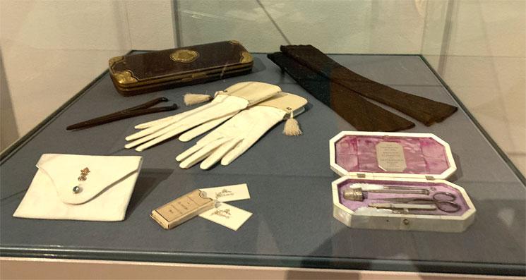 馬車博物館 シシィの手袋や使用品
