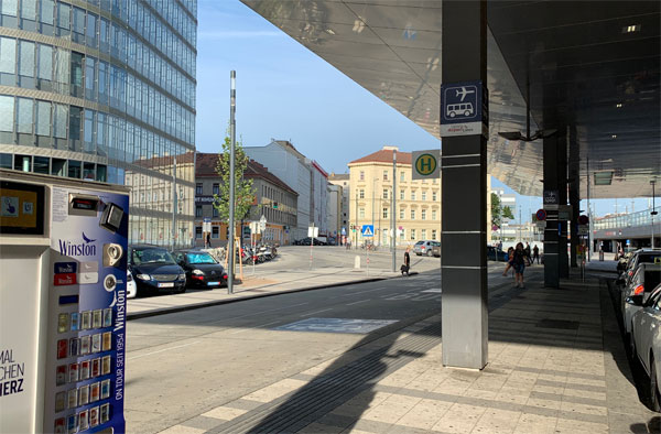 ウィーン中央駅周辺の景観
