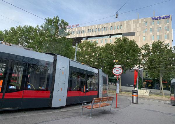 ウィーン西駅周辺の景観